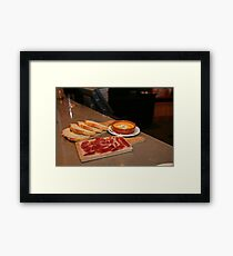 Cured Ham,bread and a Tomato dip at Tapas Revolution Framed Print