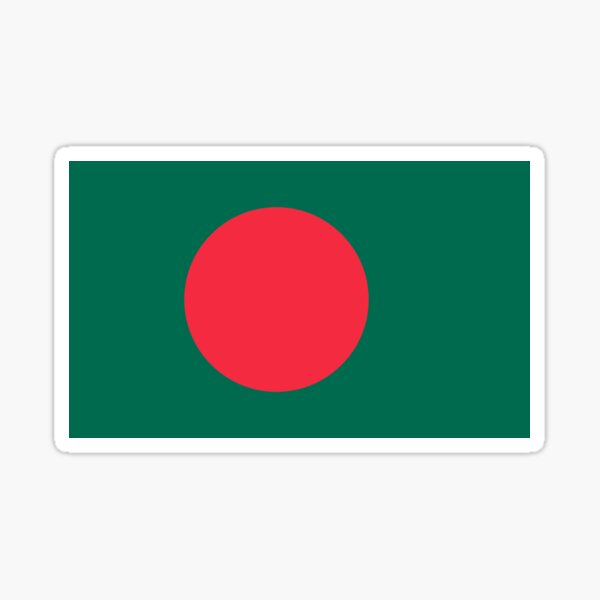 Bangladesh  Flag Gifts, Stickers & Products Sticker