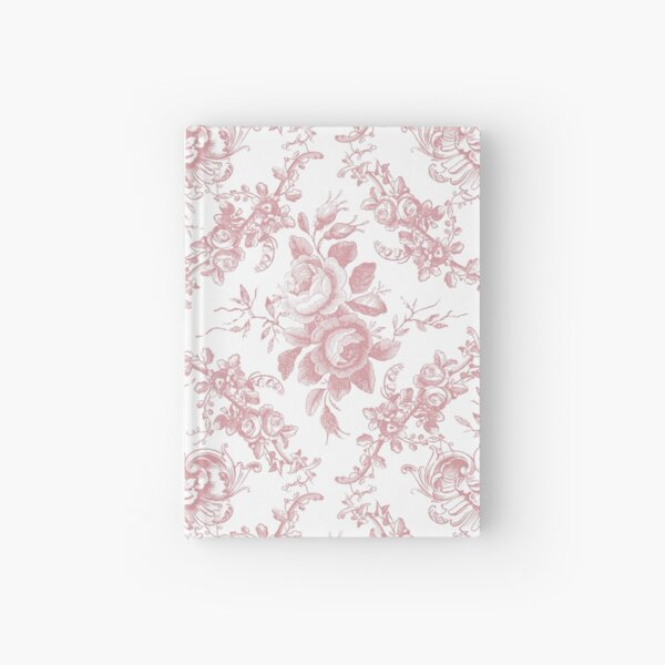 Pink Rose Toile Hardcover Journal