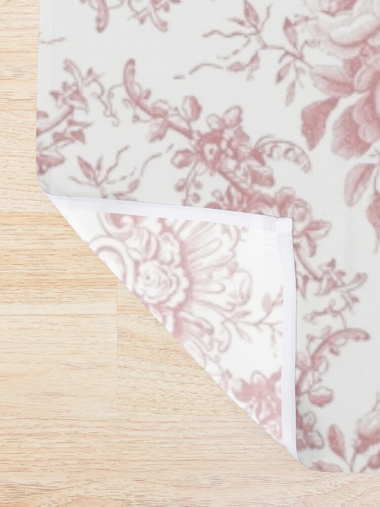 Alternate view of Pink Rose Toile Shower Curtain