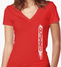 Outshined Grunge Women's Fitted V-Neck T-Shirt