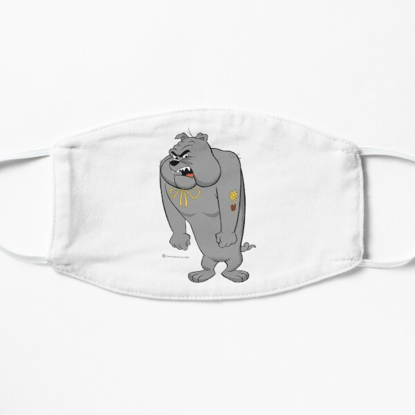 Angry Bulldog Flat Mask
