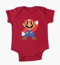 Super Mario Maker - Modern Mario Kostüm Sprite Baby Body Kurzarm