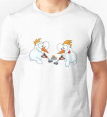 Curling snowmen Unisex T-Shirt