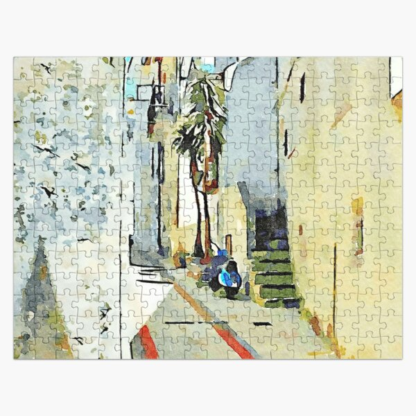 Tortora alley with scooter Jigsaw Puzzle