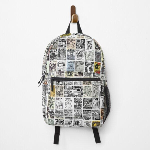 Vintage Punk Rock Flyers Backpack