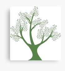 Green art tree silhouette  Canvas Print
