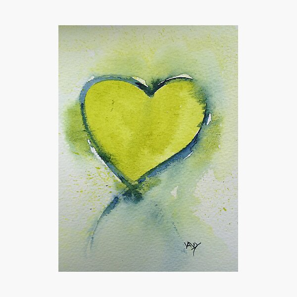 Lime Heart Photographic Print