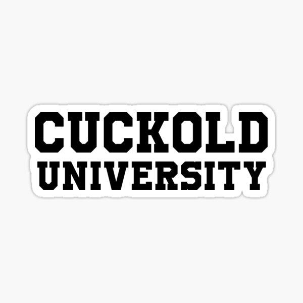 Cuckold Universität Sticker