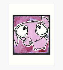 Darling Piglet roaming the field Art Print
