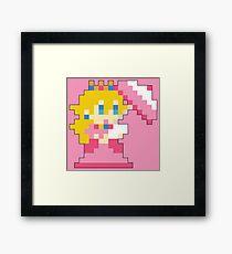 Super Mario Maker - Princess Peach Costume Sprite Framed Print
