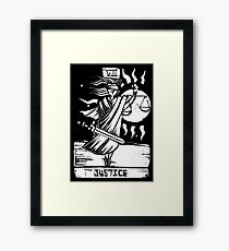 Justice - Tarot Cards - Major Arcana Framed Print