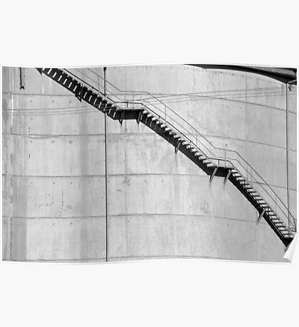 Water Tower Stairs Poster