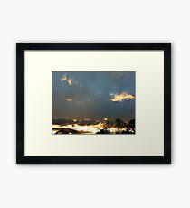Yellow Sunrise Framed Print