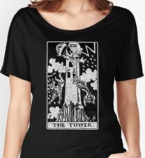 The Tower Tarot Card - Major Arcana - fortune telling - occult Women's Relaxed Fit T-Shirt