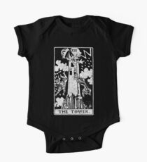 The Tower Tarot Card - Major Arcana - fortune telling - occult One Piece - Short Sleeve