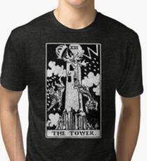 The Tower Tarot Card - Major Arcana - fortune telling - occult Tri-blend T-Shirt