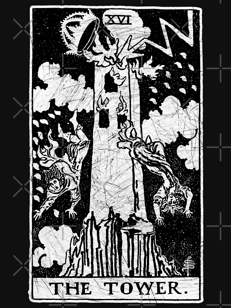 The Tower Tarot Card - Major Arcana - fortune telling - occult | Unisex T-Shirt