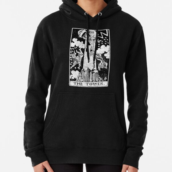 The Tower Tarot Card - Major Arcana - fortune telling - occult Pullover Hoodie