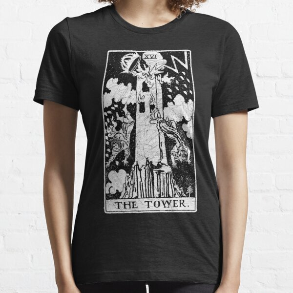 The Tower Tarot Card - Major Arcana - fortune telling - occult Essential T-Shirt