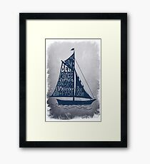 Great Gatsby Boat Quote Framed Print
