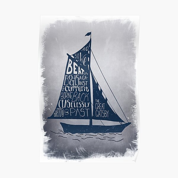 Great Gatsby Boat Quote Poster
