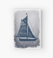 Great Gatsby Boat Quote Hardcover Journal