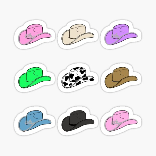 Cowgirl hats Sticker
