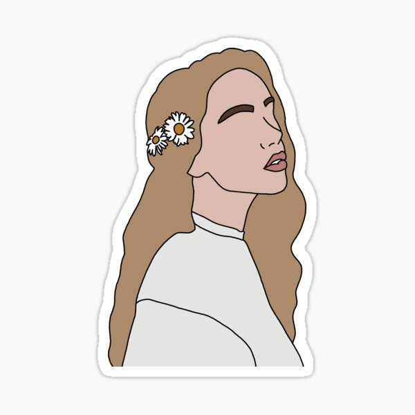 GIRL WITH  FLOWERS IN HER HAIR Sticker