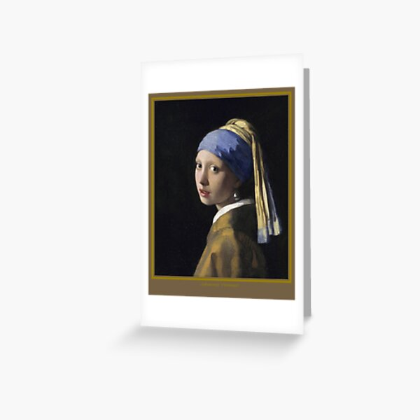 The Girl with a Pearl Earring Greeting Card