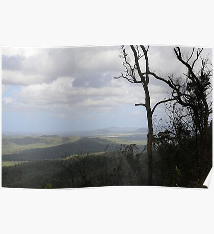 Across the mountains - Townsville, Queensland Poster