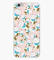 Vinilo o funda para iPhone Patrón de gato Buena suerte Maneki-neko