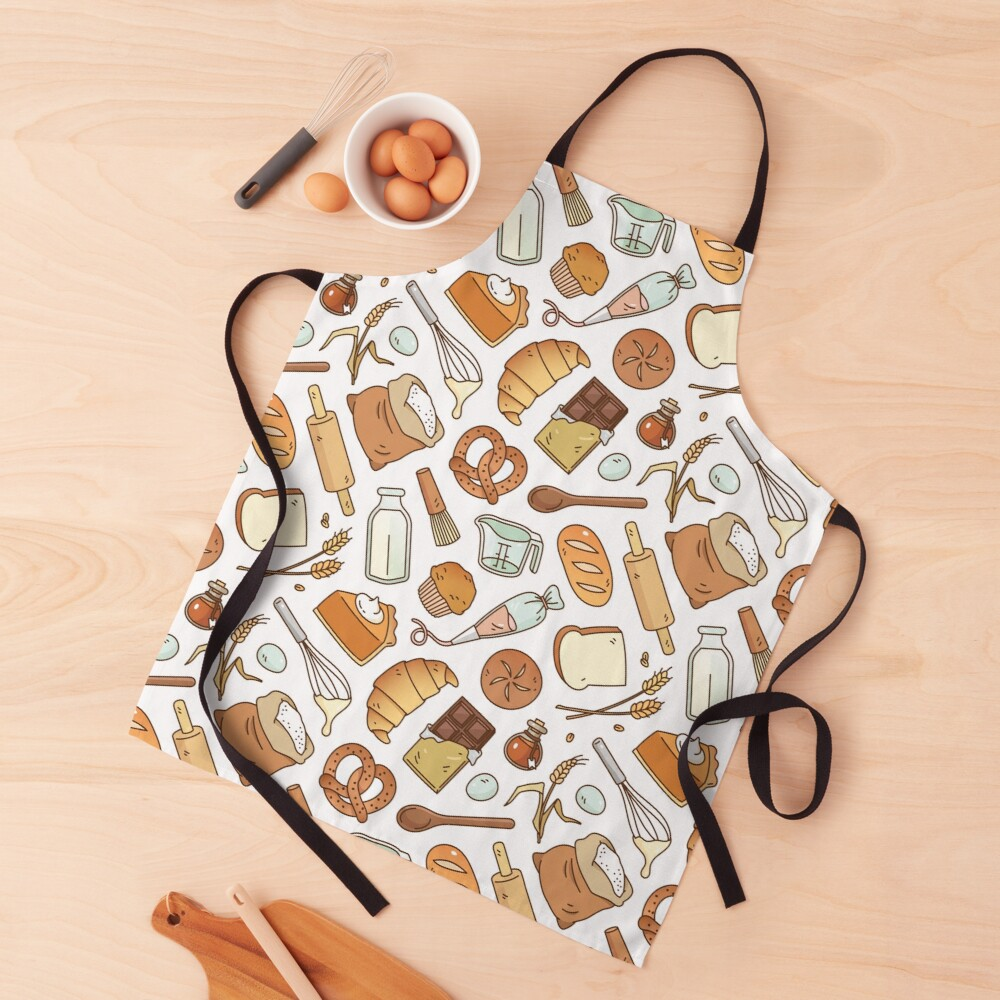 Bakery Essentials Pattern  Apron