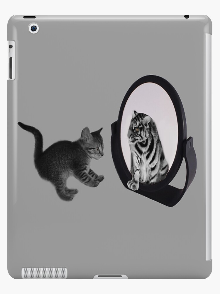 ♥•.¸¸MIRROR OF TRUTH WHAT DO I SEE?..I SEE THE REAL TIGER IN ME ~IPAD CASE♥•.¸¸ LOL von ✿✿ Bonita ✿✿ ђєℓℓσ