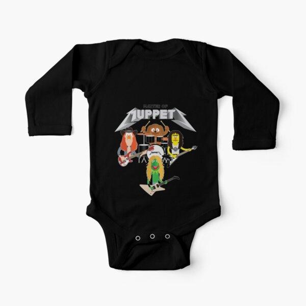 Master of Muppets 2 - Muppets como Metallica Band Body de manga larga para bebé