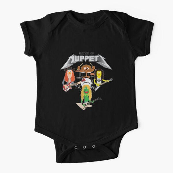 Master of Muppets 2 - Muppets as Metallica Band Short Sleeve Baby One-Piece