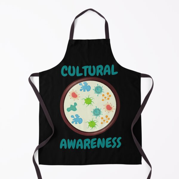 CULTURAL AWARENESS FUNNY Laboratory Science Microbiology Apron