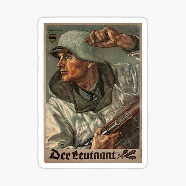 Der Leutnant..The Lieutenant..WW2 Sticker