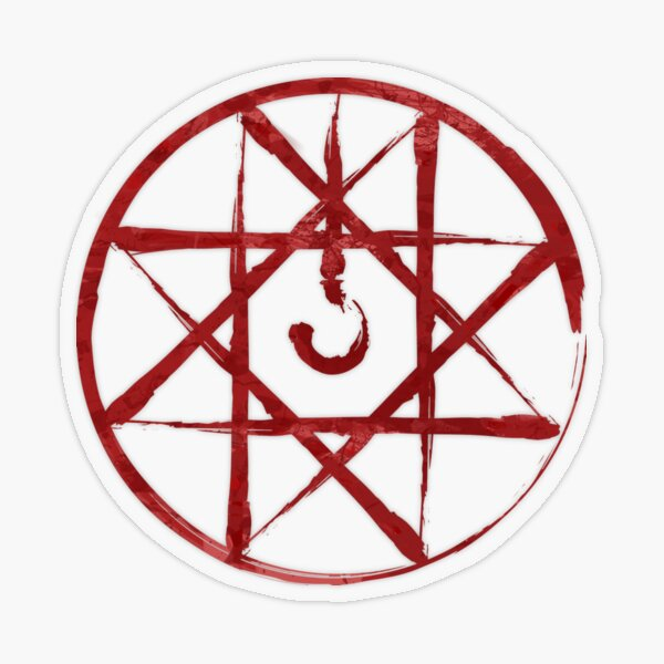 """Full Metal Alchemist Blood Seal"" Sticker by camdoesdesign ..."