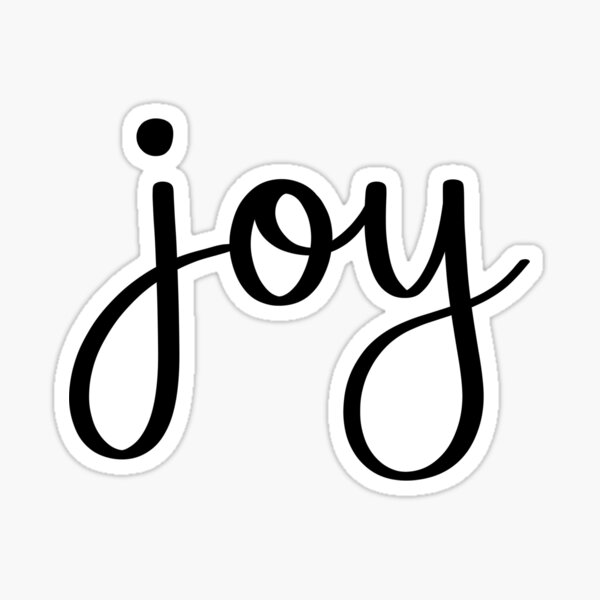 Joy Handwritten Script Sticker