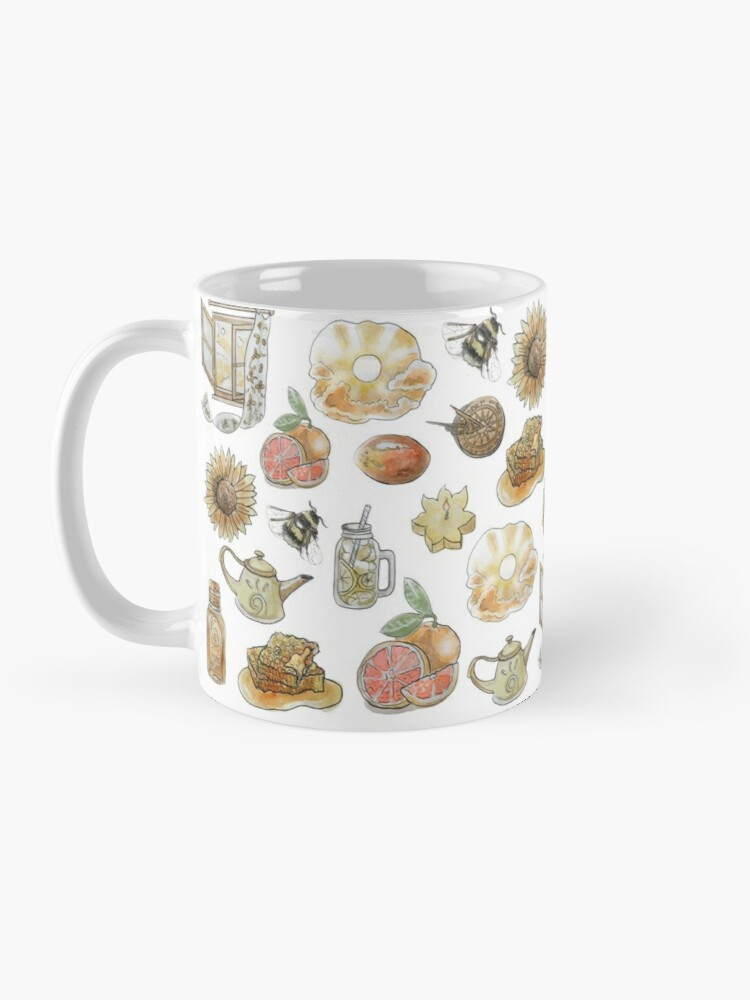 Alternate view of Solar Witch Pattern - Wrap Around with While Background Mug