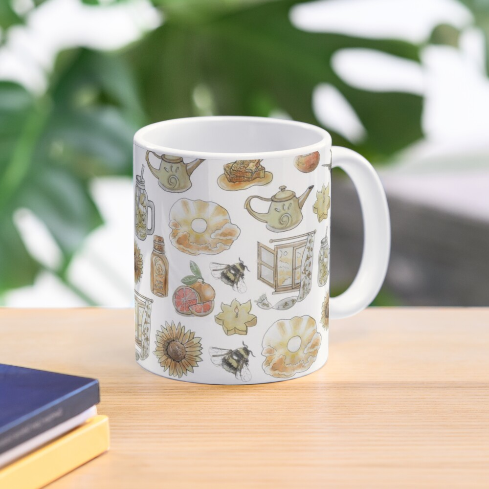 Solar Witch Pattern - Wrap Around with While Background Mug