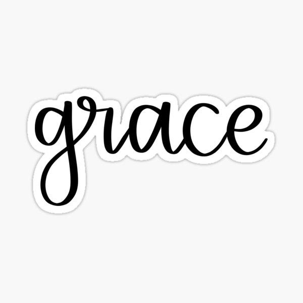 Grace Handwritten Script Sticker