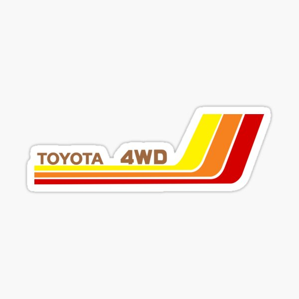 Vintage Toyota Racing Stripes Bronze (Left) Sticker
