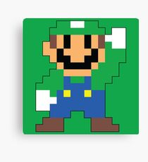 Super Mario Maker - Luigi Costume Sprite Canvas Print