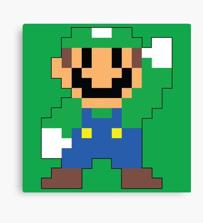 Super Mario Maker - Luigi Costume Sprite Canvas Print