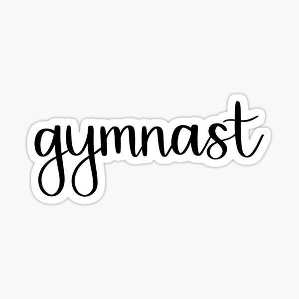 Gymnast Handwritten Script Sticker
