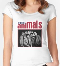 The Animals Band Women's Fitted Scoop T-Shirt