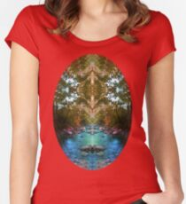 Secrets Of Nature T-shirt Women's Fitted Scoop T-Shirt