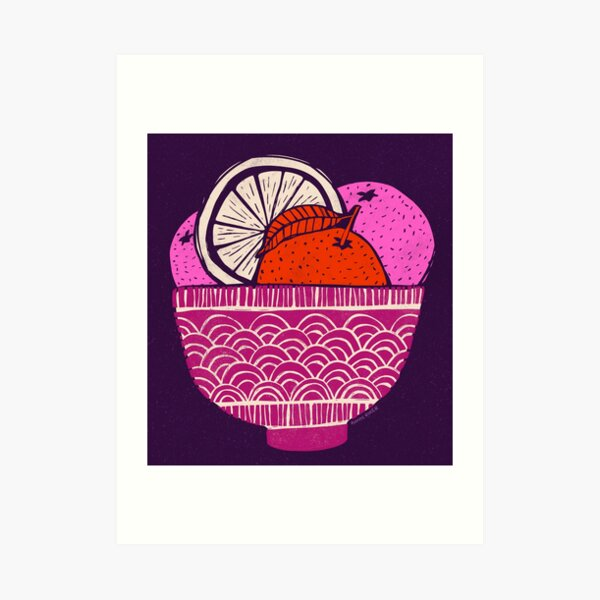 Bowl Of Oranges Art Print